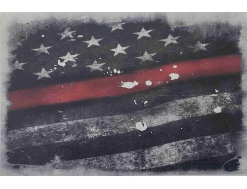 Old Glory Thin Red Line Flag